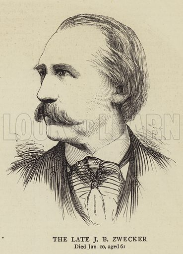 The Late J B Zwecker. Illustration for The Graphic, 29 January 1876.
