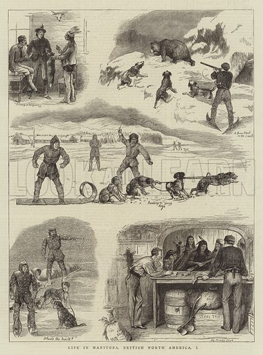 Life in Manitoba, British North America, I Illustration for The Graphic, 19 May 1877.