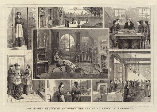 The Higher Education of Women, the Ladies' Colleges at Cambridge. Illustration for The Graphic, 16 June 1877.