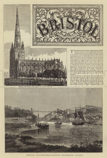 Bristol Illustrated. Illustration for The Graphic, 20 July 1878.