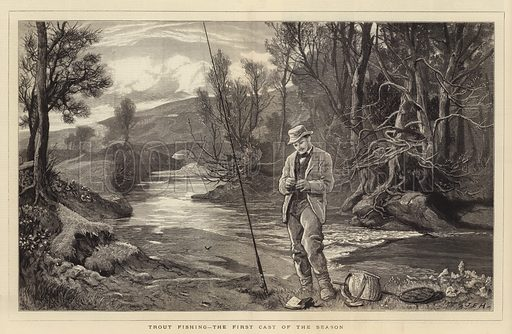 Trout Fishing, the First Cast of the Season