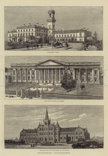 Melbourne Illustrated. Illustration for The Graphic, 6 November 1880.