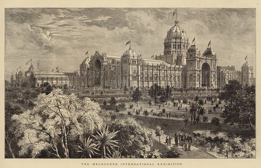 The Melbourne International Exhibition. Illustration for The Graphic, 1880.