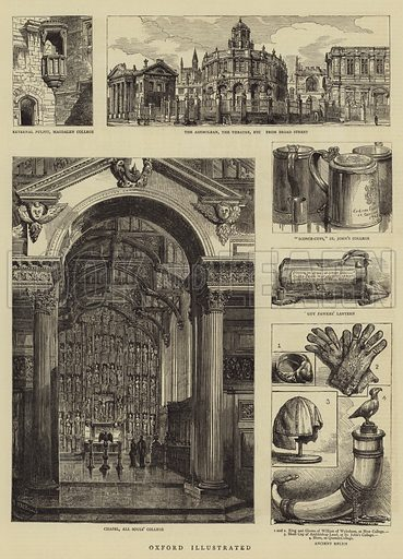 Oxford Illustrated. Illustration for The Graphic, 3 June 1882.