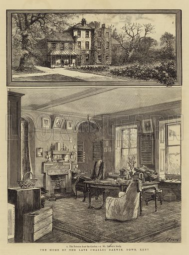 The Home of the Late Charles Darwin, Down, Kent. Illustration for The Graphic, 1 July 1882.