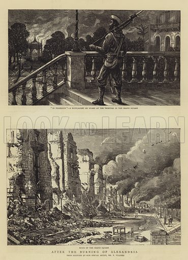 After the Burning of Alexandria. Illustration for The Graphic, 5 August 1882.