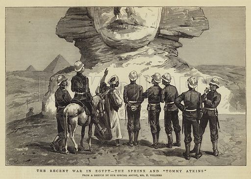 """The Recent War in Egypt, the Sphinx and """"Tommy Atkins"""""""
