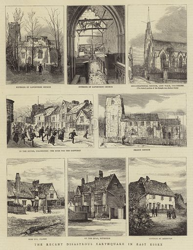 The Recent Disastrous Earthquake in East Essex. Illustration for The Graphic, 3 May 1884.