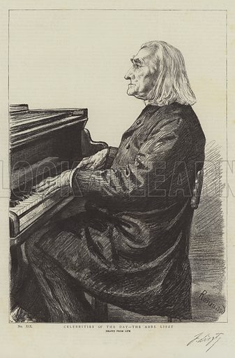 Celebrities of the Day, the Abbe Liszt