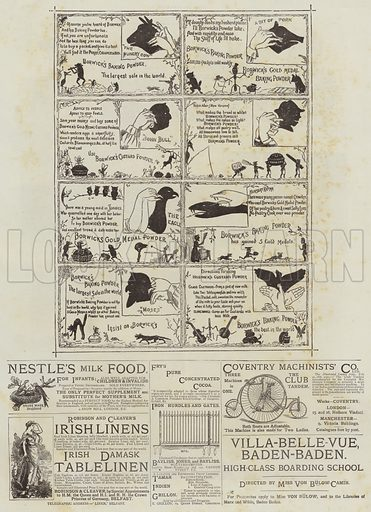Page of Advertisements. Illustration for The Graphic, 26 June 1886.
