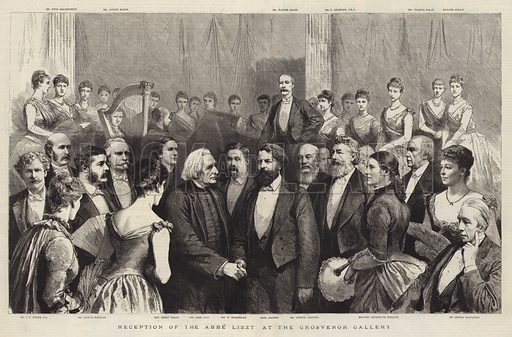 Reception of the Abbe Liszt at the Grosvenor Gallery