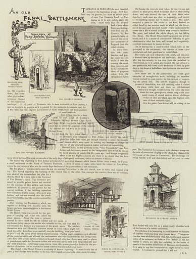 An Old Penal Settlement. Illustration for The Graphic, 28 March 1891.