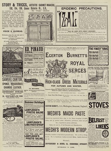 Page of Advertisements. Illustration for The Graphic, 7 October 1893.