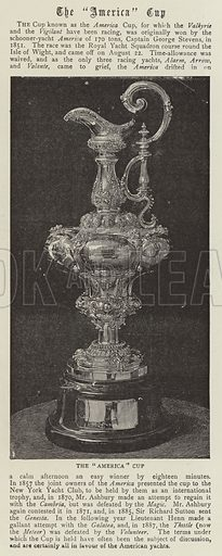 """The """"America"""" Cup. Illustration for The Graphic, 14 October 1893."""