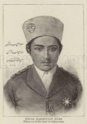 Sirdar Habibullah Khan, Eldest son of the Amir of Afghanistan. Illustration for The Graphic, 28 October 1893.