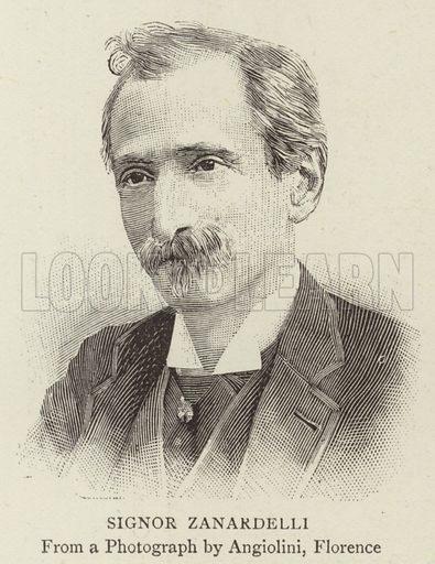 Signor Zanardelli. Illustration for The Graphic, 16 December 1893.