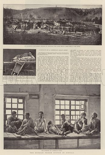 The Russian Prison System in Siberia. Illustration for The Graphic, 13 August 1898.