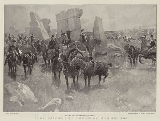 The Army Manoeuvres, with the Northern Army on Salisbury Plain. Illustration for The Graphic, 3 September 1898.