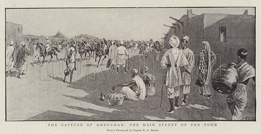 The Capture of Omdurman, the Main Street of the Town. Illustration for The Graphic, 24 September 1898.