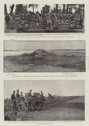 The Battle of Omdurman. Illustration for The Graphic, 24 September 1898.