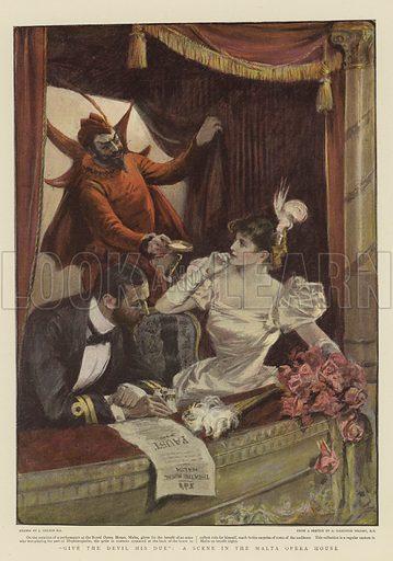 """""""Give the Devil his Due"""", a Scene in the Malta Opera House"""