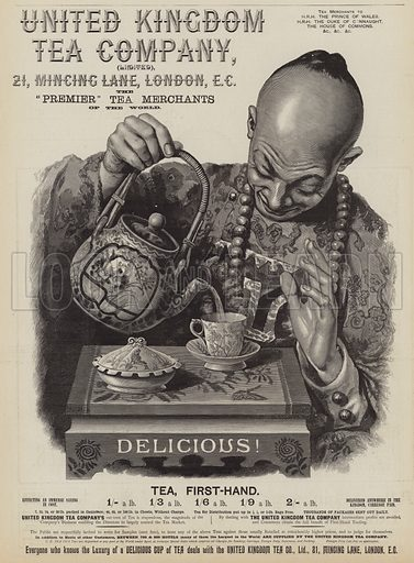 Advertisement for The United Kingdom Tea Company. Illustration for The Graphic, 28 April 1894.