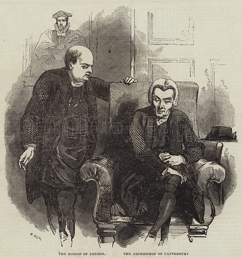 The Bishop of London and the Archbishop of Canterbury. Illustration for The Illustrated London News, 25 January 1845.