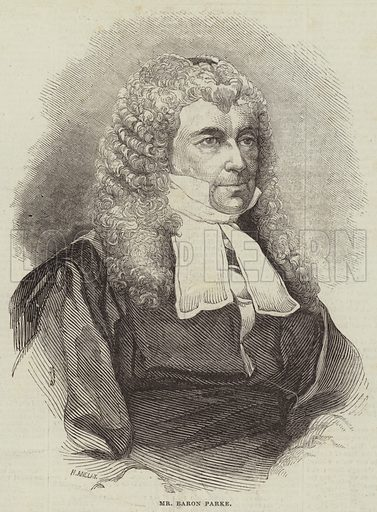 Mr Baron Parke. Illustration for The Illustrated London News, 22 March 1845.