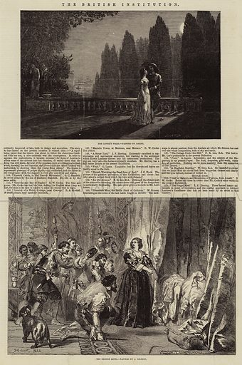 The British Institution. Illustration for The Illustrated London News, 13 February 1847.