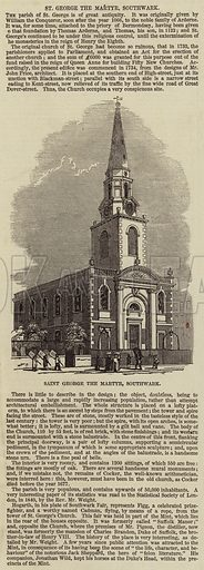 Saint George the Martyr, Southwark. Illustration for The Illustrated London News, 6 March 1847.