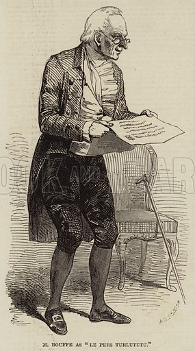 "M Bouffe as ""Le Pere Turlututu"". Illustration for The Illustrated London News, 26 June 1847."