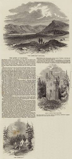 The Queen at Balmoral. Illustration for The Illustrated London News, 8 September 1849.
