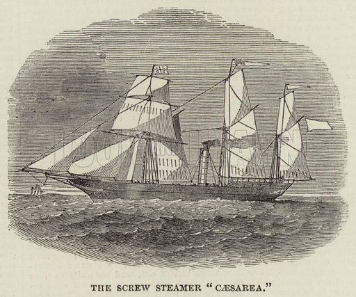 "The Screw Steamer ""Caesarea"". Illustration for The Illustrated London News, 30 November 1850."