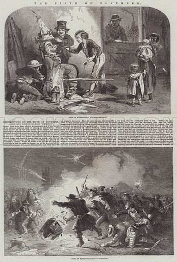 The Fifth of November. Illustration for The Illustrated London News, 5 November 1853.