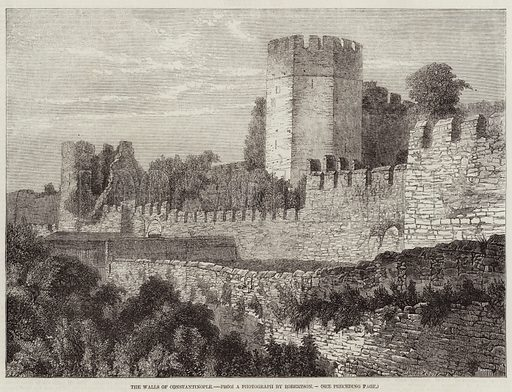 The Walls of Constantinople stock image | Look and Learn