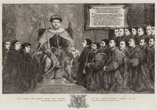 King Henry the Eighth giving the Charter to the Barber-Surgeons
