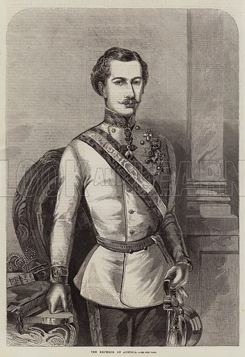 The Emperor of Austria. Illustration for The Illustrated London News, 23 July 1859.