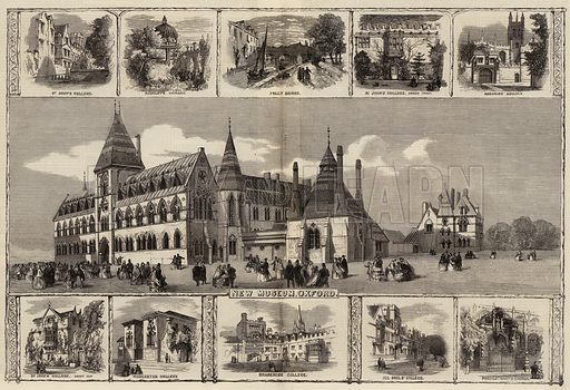 Sketches in Oxford. Illustration for The Illustrated London News, 5 November 1859.