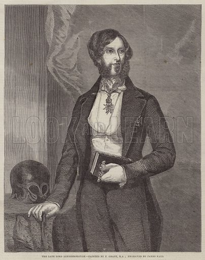 The Late Lord Londesborough. Illustration for The Illustrated London News, 4 February 1860.