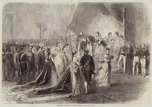 Reception of Ladies at the Tuileries on New-Year's Day. Illustration for The Illustrated London News, 15 January 1870.