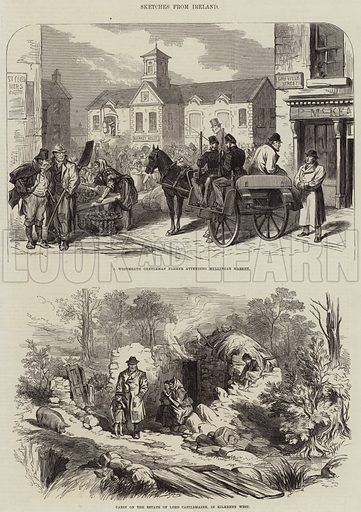 Sketches from Ireland. Illustration for The Illustrated London News, 30 April 1870.