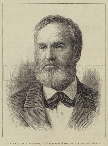 Alexander Vogorides, the New Governor of Eastern Roumelia. Illustration for The Illustrated London News, 5 July 1879.