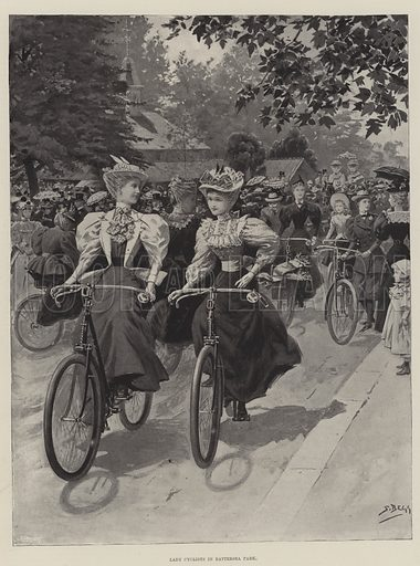 cyclists, picture, image, illustration