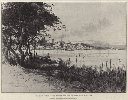 The Land of the Golden Nugget, the City of Perth, West Australia. Illustration for The Illustrated London News, 28 September 1895.