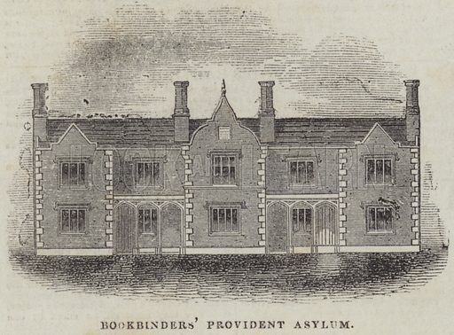 Bookbinders' Provident Asylum. Illustration for The Illustrated London News, 8 July 1843.