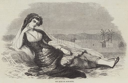 The Maid of Damascus. Illustration for The Illustrated London News, 2 March 1844.