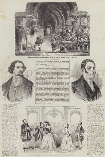 Performing Arts in London. Illustration for The Illustrated London News, 11 May 1844.