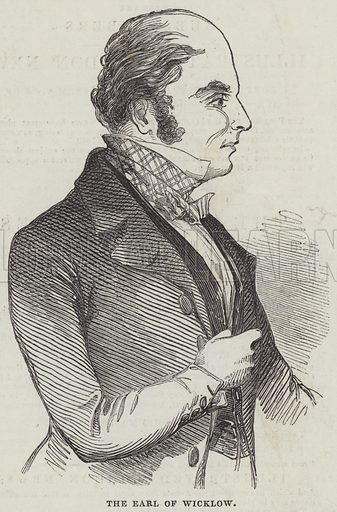 The Earl of Wicklow. Illustration for The Illustrated London News, 18 May 1844.