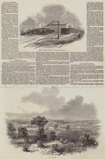 The Railway Progress. Illustration for The Illustrated London News, 18 October 1845.