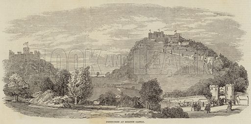 Festivities at Beeston Castle. Illustration for The Illustrated London News, 12 July 1851.